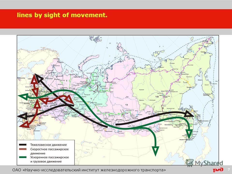 7 lines by sight of movement. ОАО «Научно-исследовательский институт железнодорожного транспорта»