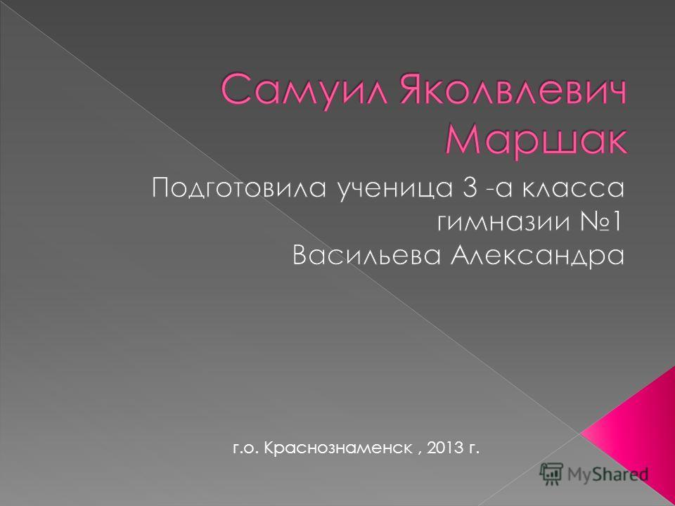 г.о. Краснознаменск, 2013 г.