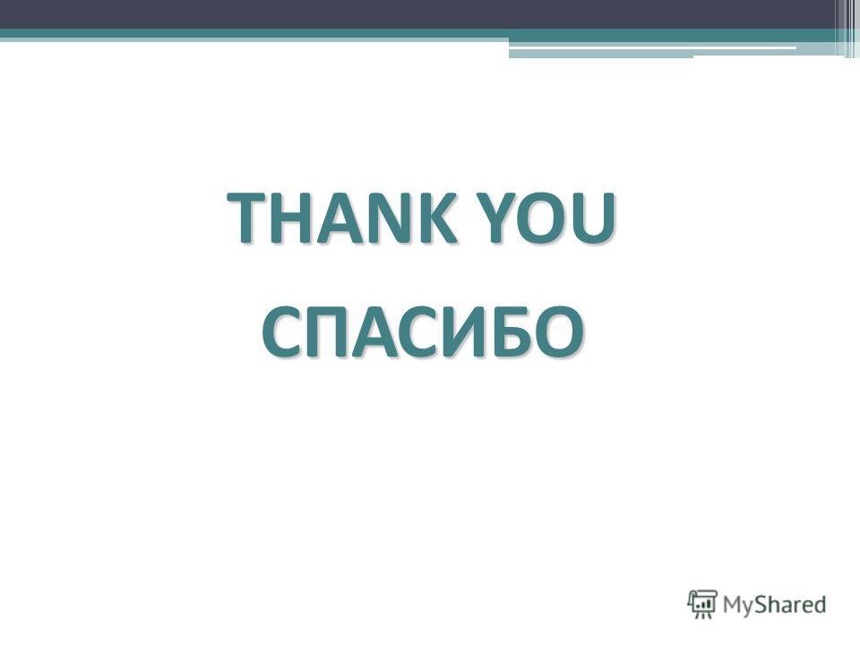 THANK YOU СПАСИБО