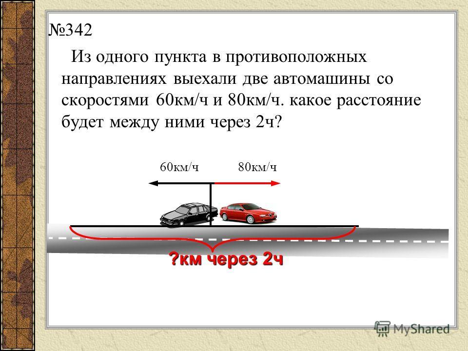 Как изменяется расстояние между двумя автомобилями и на сколько километров в час, если они движутся со скоростями 70км/ч и 90км/ч: Из разных пунктов навстречу друг другу? 70 км/ч90 км/ч