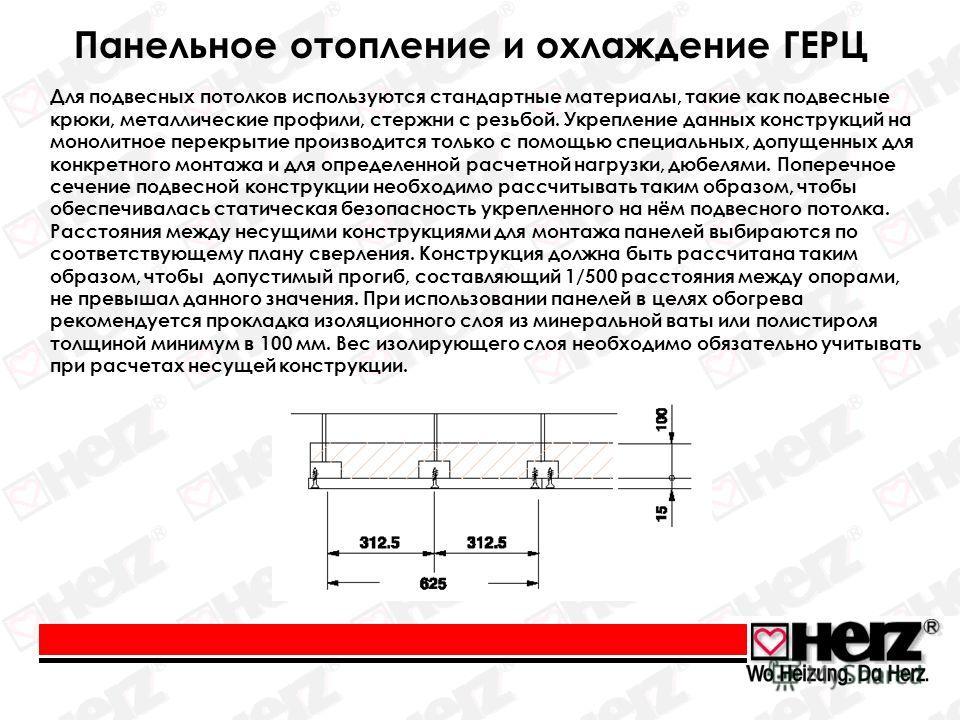 Для подвесных потолков используются стандартные материалы, такие как подвесные крюки, металлические профили, стержни с резьбой. Укрепление данных конструкций на монолитное перекрытие производится только с помощью специальных, допущенных для конкретно