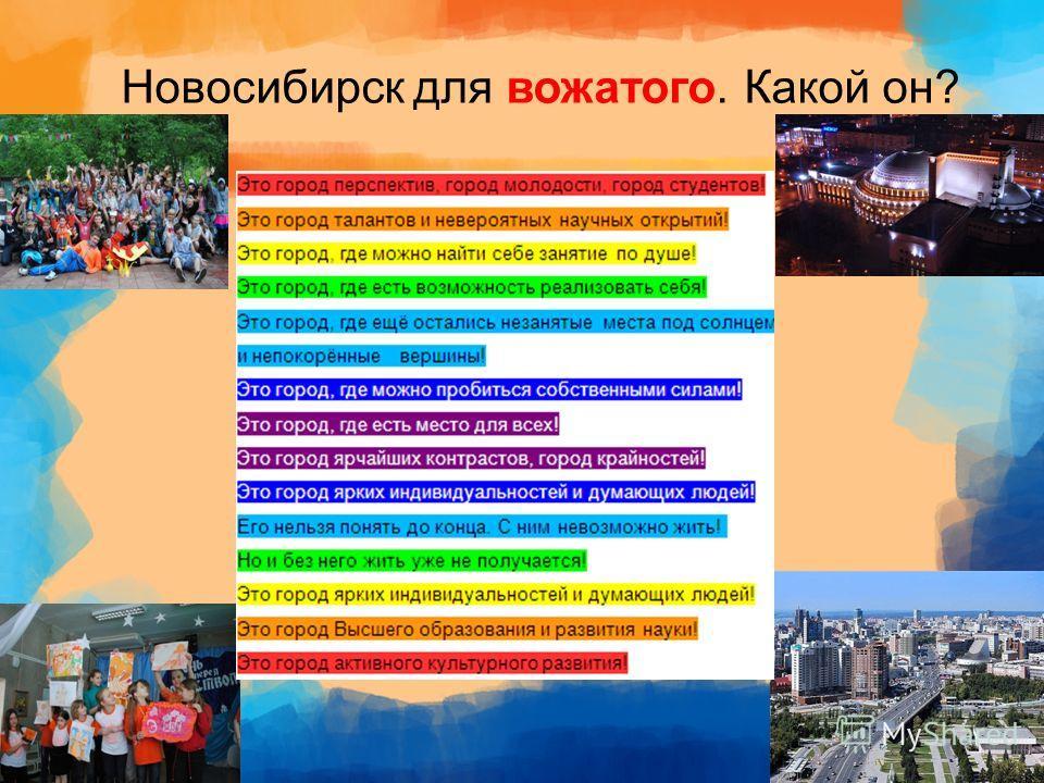 Новосибирск для вожатого. Какой он?