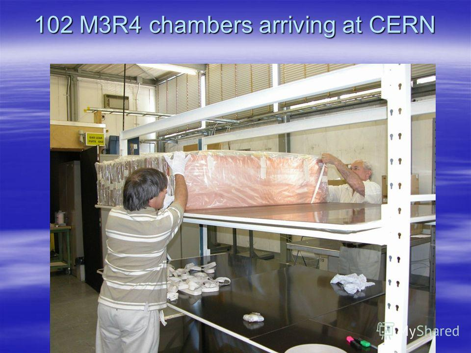 102 M3R4 chambers arriving at CERN
