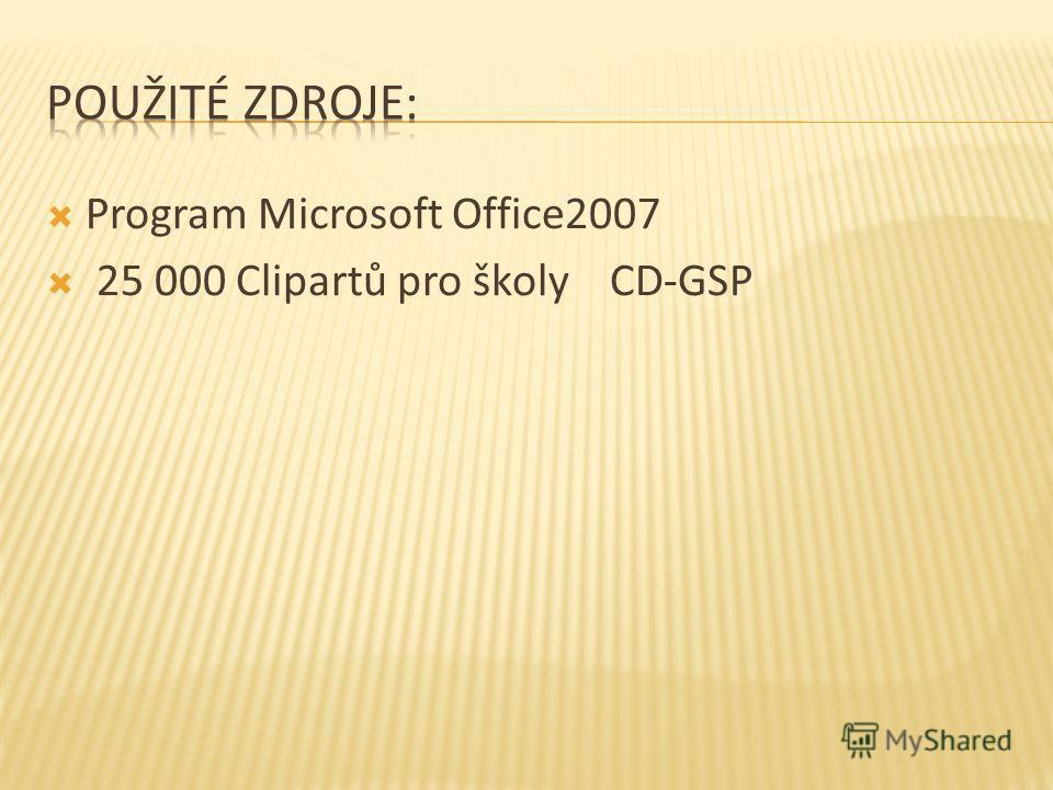 Program Microsoft Office2007 25 000 Clipartů pro školy CD-GSP