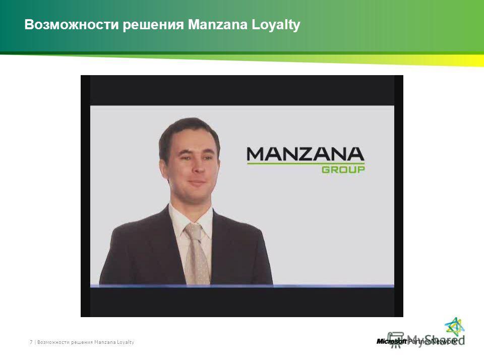 Возможности решения Manzana Loyalty 7 |