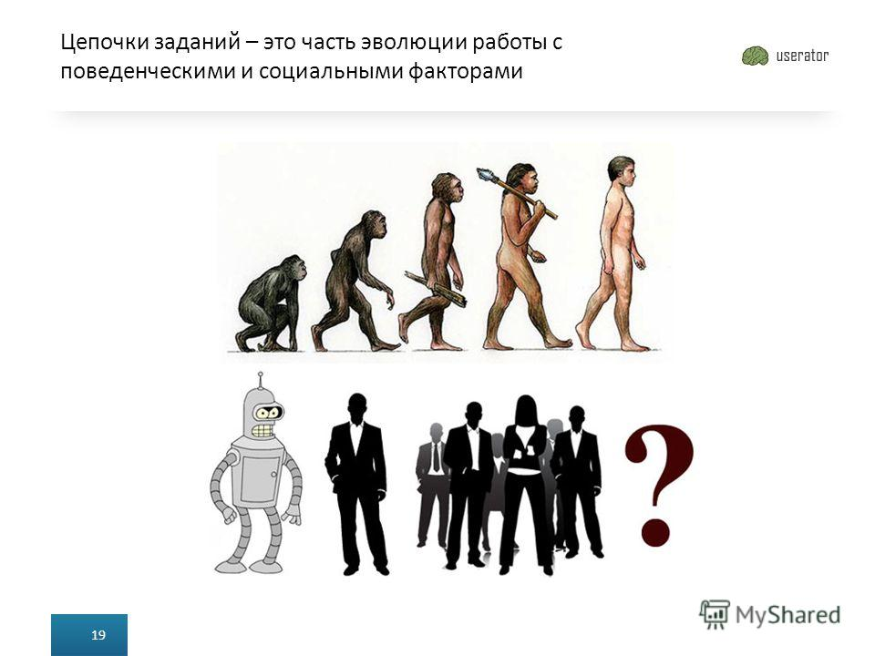 Цепочки заданий – это часть эволюции работы с поведенческими и социальными факторами 19