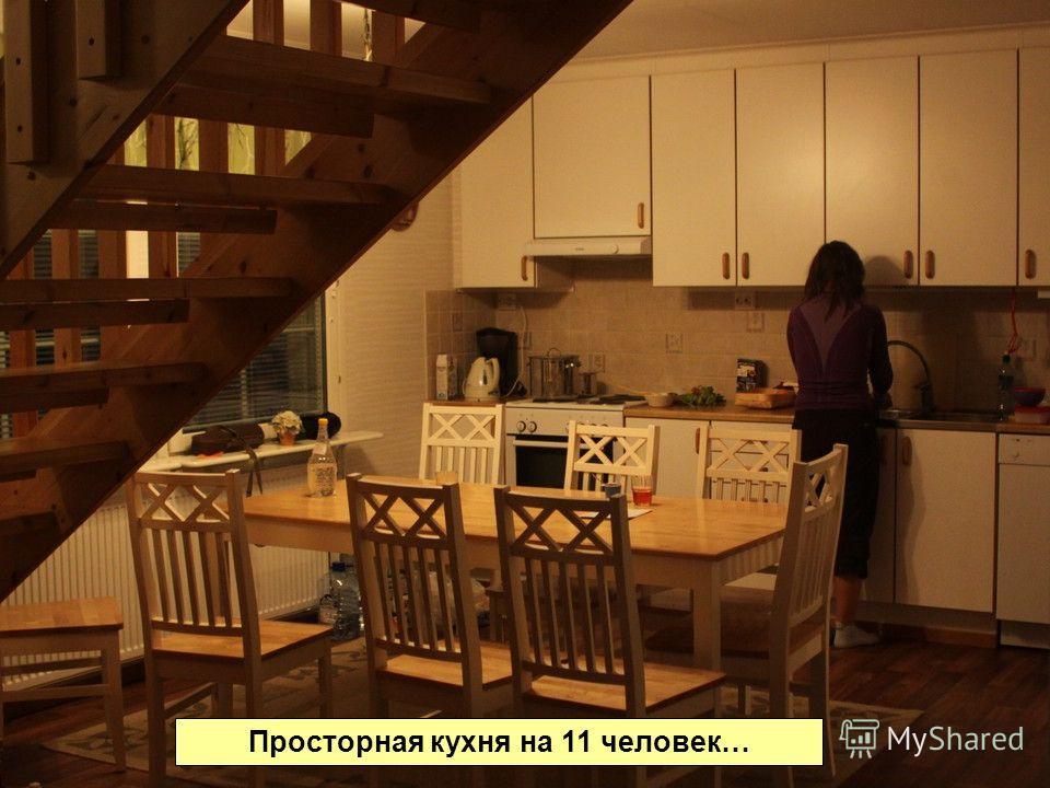 Просторная кухня на 11 человек…
