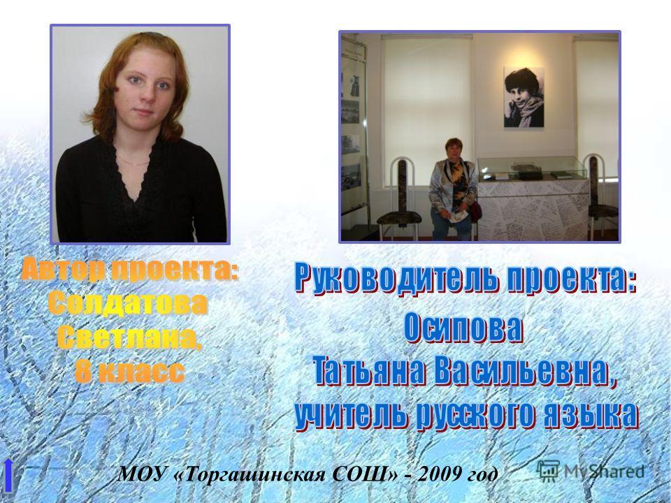 МОУ «Торгашинская СОШ» - 2009 год