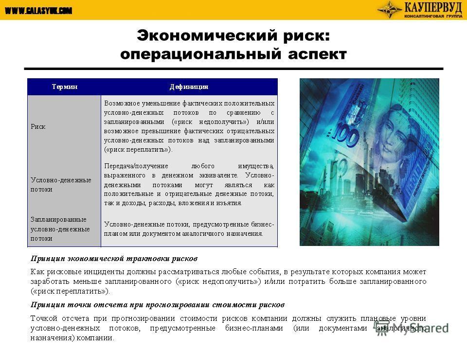 WWW.GALASYUK.COM Экономический риск: операциональный аспект