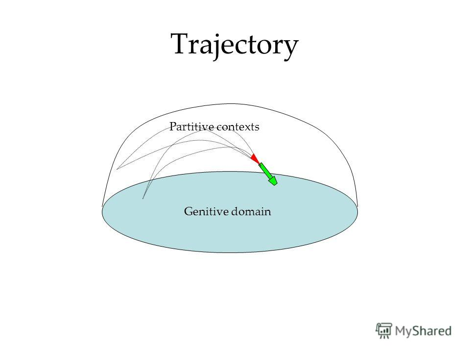Trajectory Partitive contexts Genitive domain