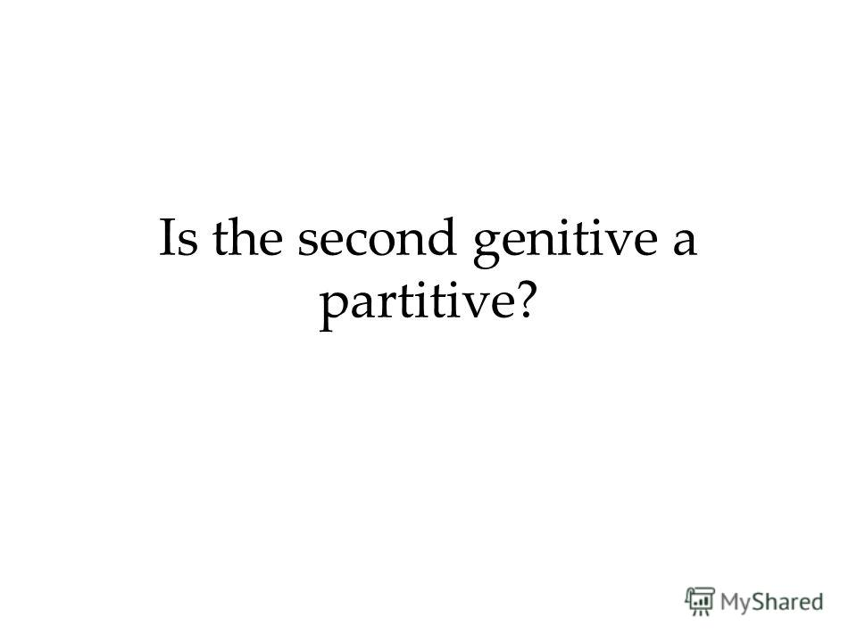 Is the second genitive a partitive?