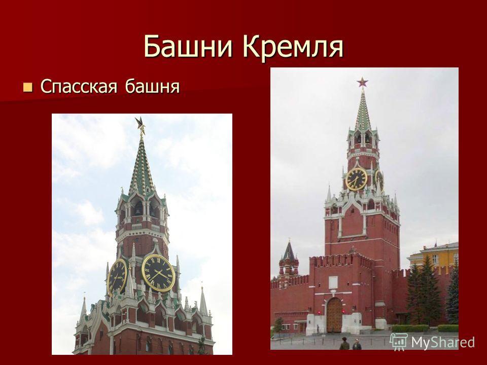 Башни Кремля Спасская башня Спасская башня