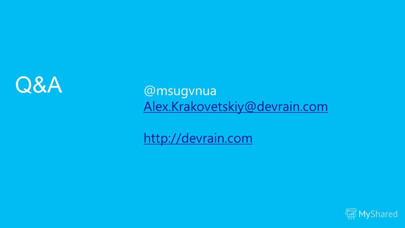 @msugvnua Alex.Krakovetskiy@devrain.com http://devrain.com