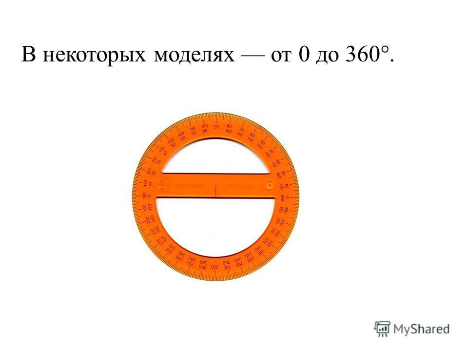 В некоторых моделях от 0 до 360°.