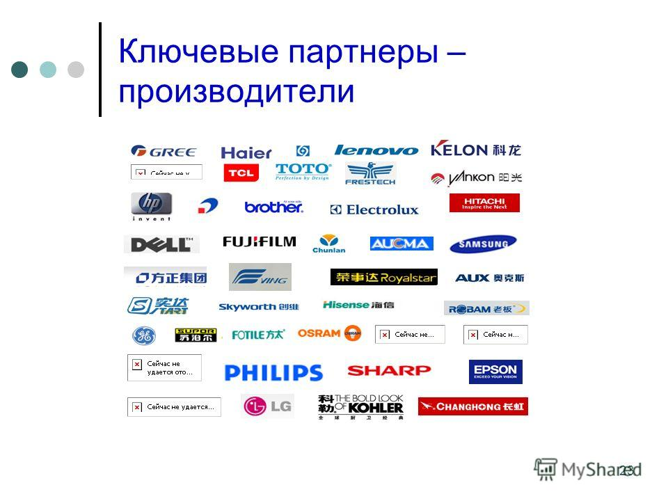 23 Ключевые партнеры – производители