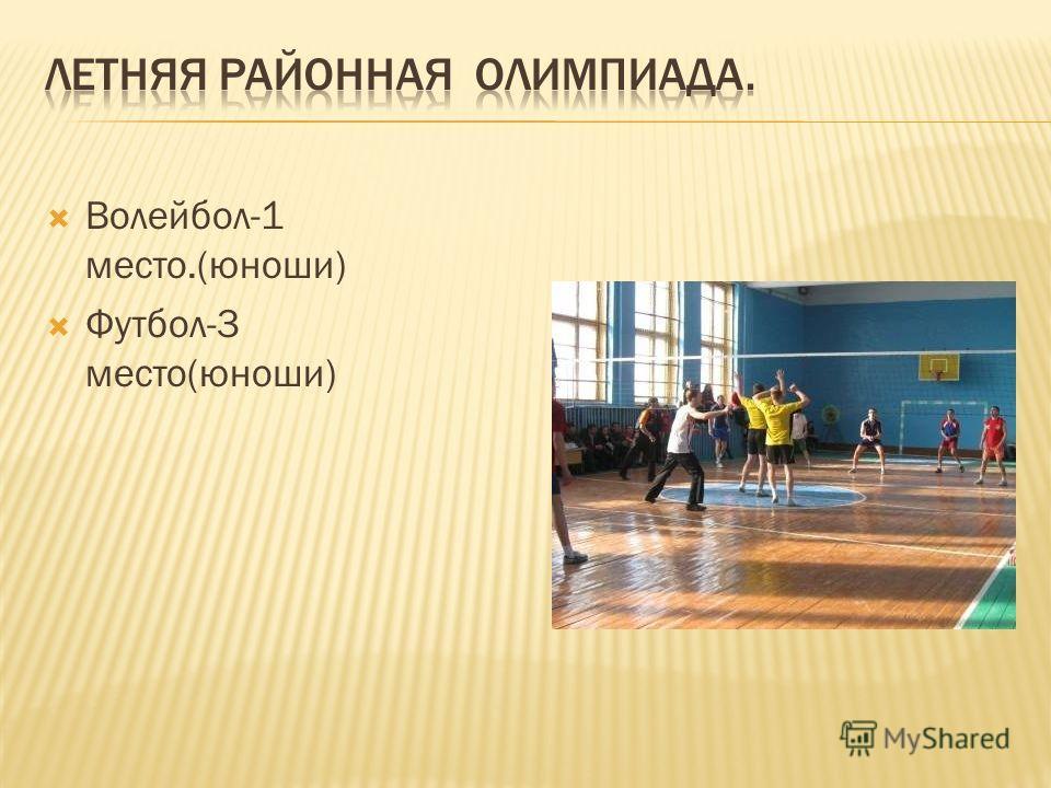 Волейбол-1 место.(юноши) Футбол-3 место(юноши)