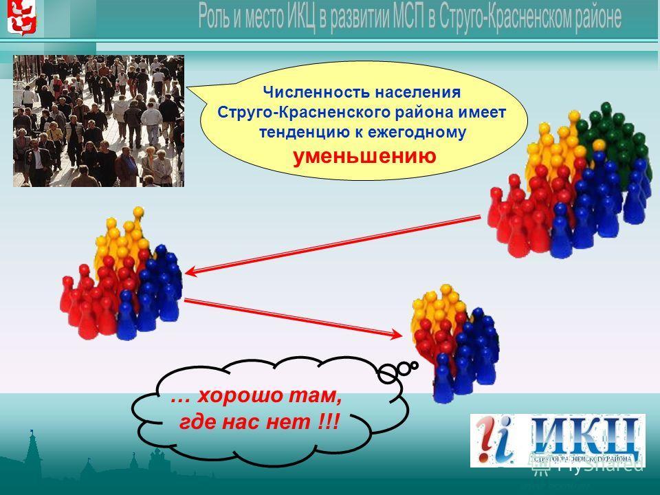 Численность населения Струго-Красненского района имеет тенденцию к ежегодному уменьшению … хорошо там, где нас нет !!!