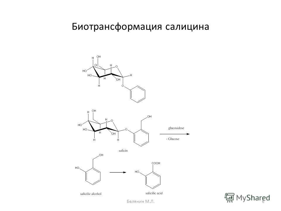 Биотрансформация салицина 6Белянин М.Л.