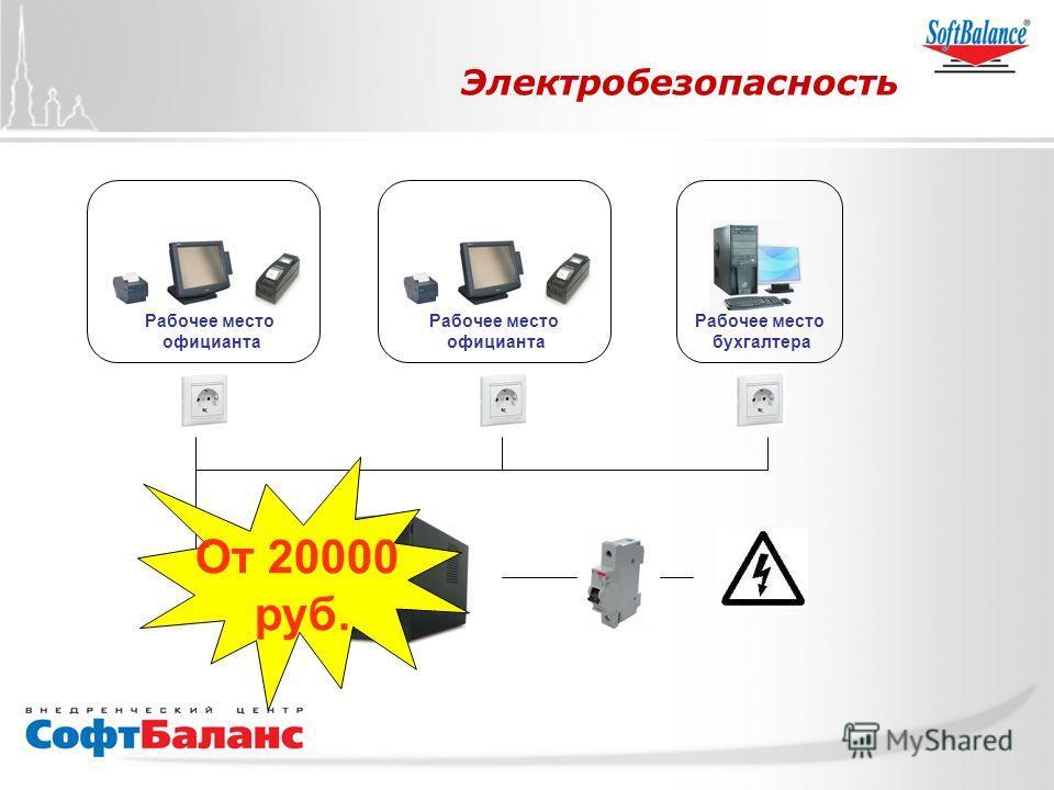 СофтБаланс Вперед! Электробезопасность От 20000 руб. Рабочее место официанта Рабочее место официанта Рабочее место бухгалтера