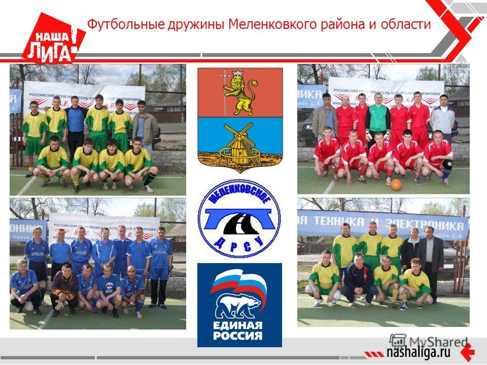 Футбольные дружины Меленковкого района и области