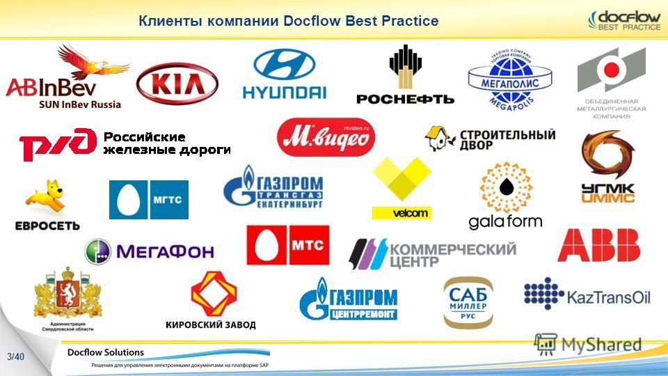 Клиенты компании Docflow Best Practice 3/40