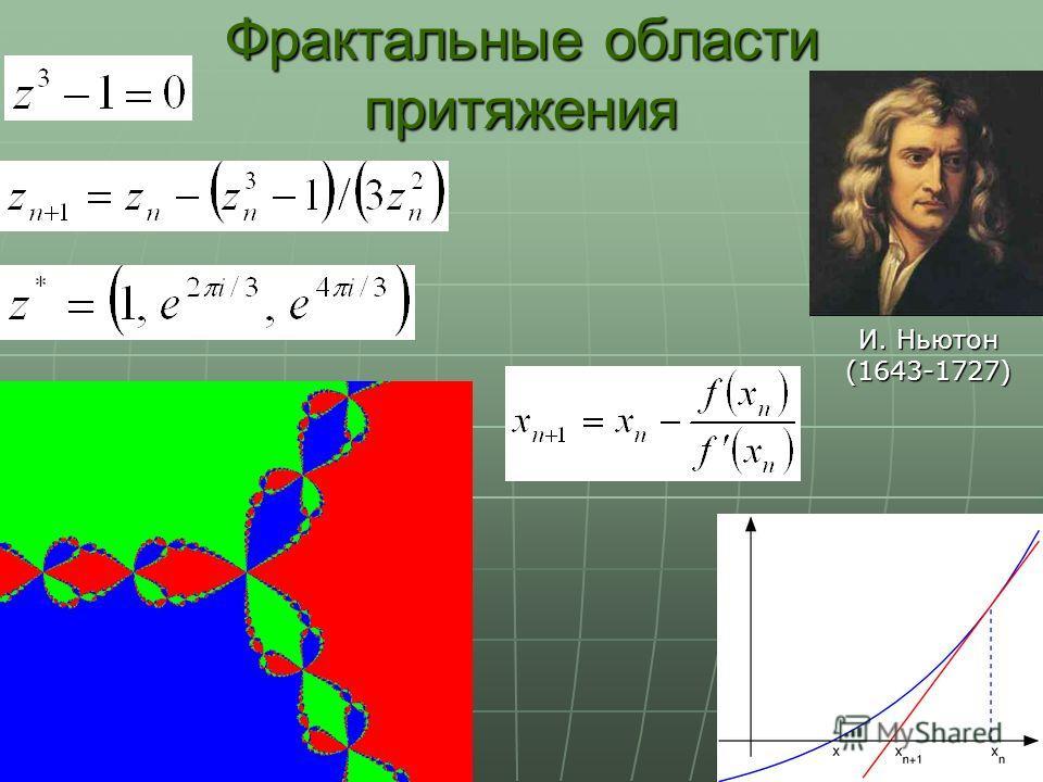 Фрактальные области притяжения И. Ньютон (1643-1727)