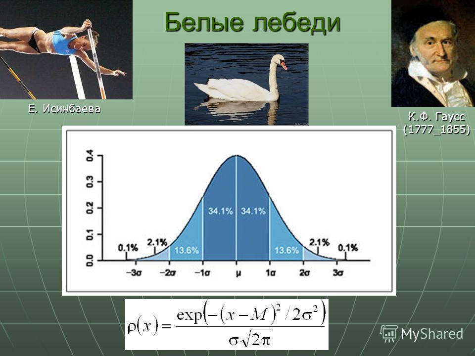 Белые лебеди К.Ф. Гаусс (1777_1855) Е. Исинбаева