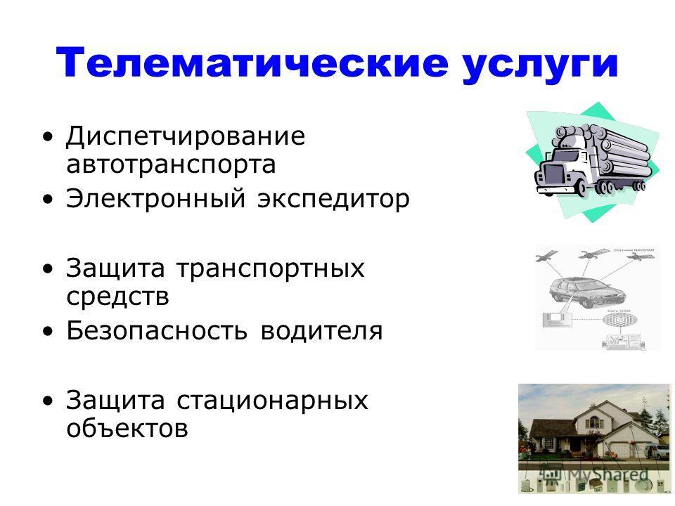 Телематические услуги