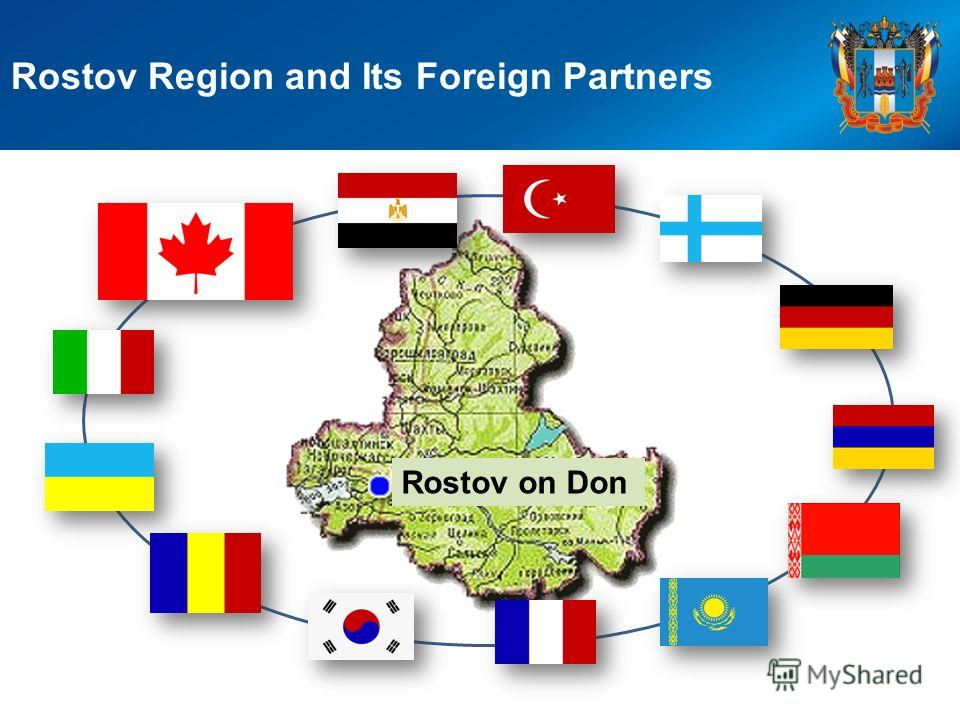 Rostov Region and Its Foreign Partners Rostov on Don