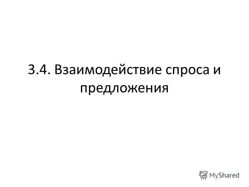 3.4. Взаимодействие спроса и предложения