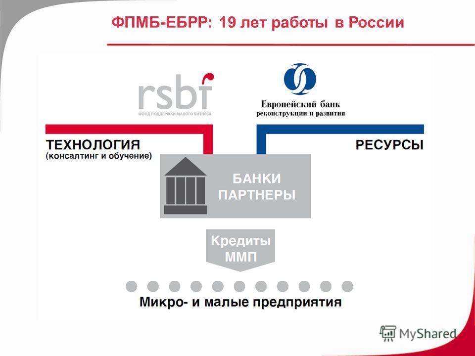 ФПМБ-ЕБРР: 19 лет работы в России