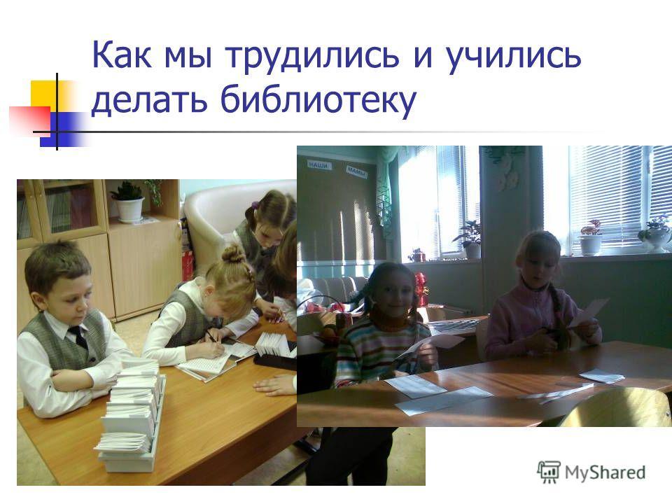 Как мы трудились и учились делать библиотеку