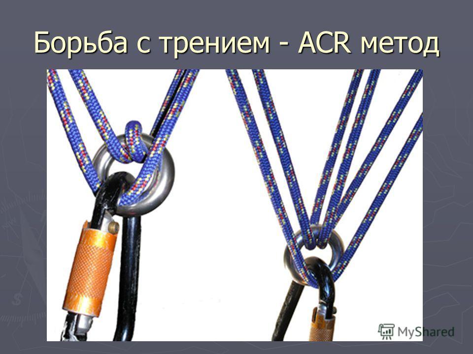 Борьба с трением - ACR метод