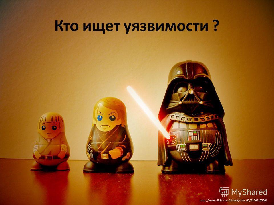 Кто ищет уязвимости ? http://www.flickr.com/photos/rufo_83/3154516530/