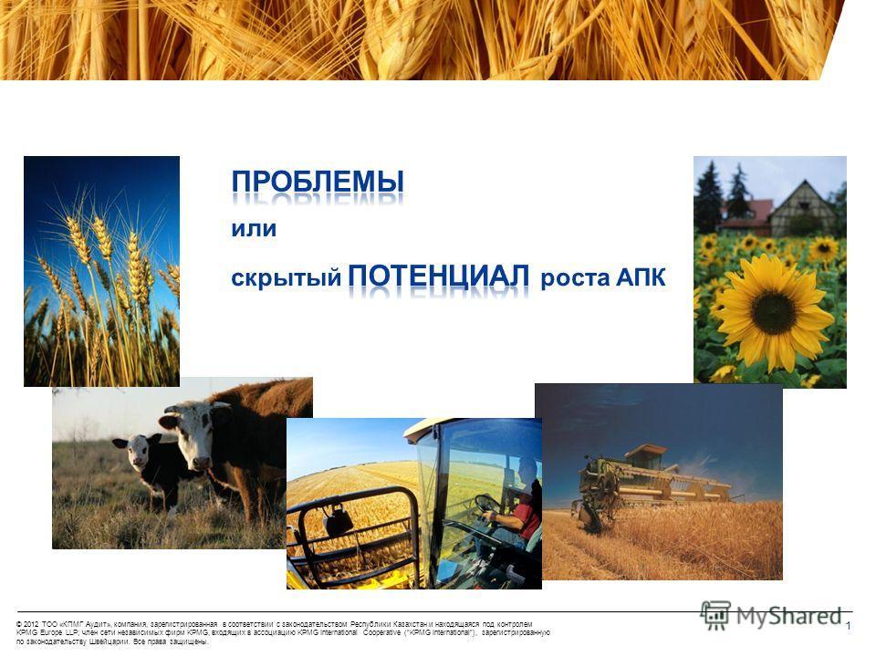 Аспекты финансирования в АПК V Казахстанский зерновой форум «KAZGRAIN-2012» 16-17 марта 2012