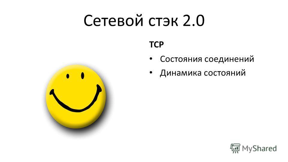 Сетевой стэк 2.0 TCP Состояния соединений Динамика состояний
