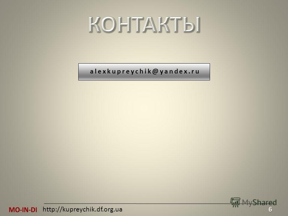 http://kupreychik.df.org.ua6 alexkupreychik@yandex.ru