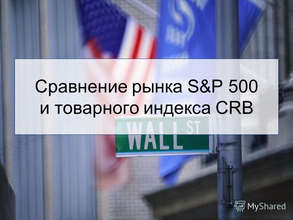 Сравнение рынка S&P 500 и товарного индекса CRB