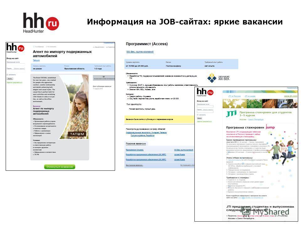 Информация на JOB-сайтах: яркие вакансии 7