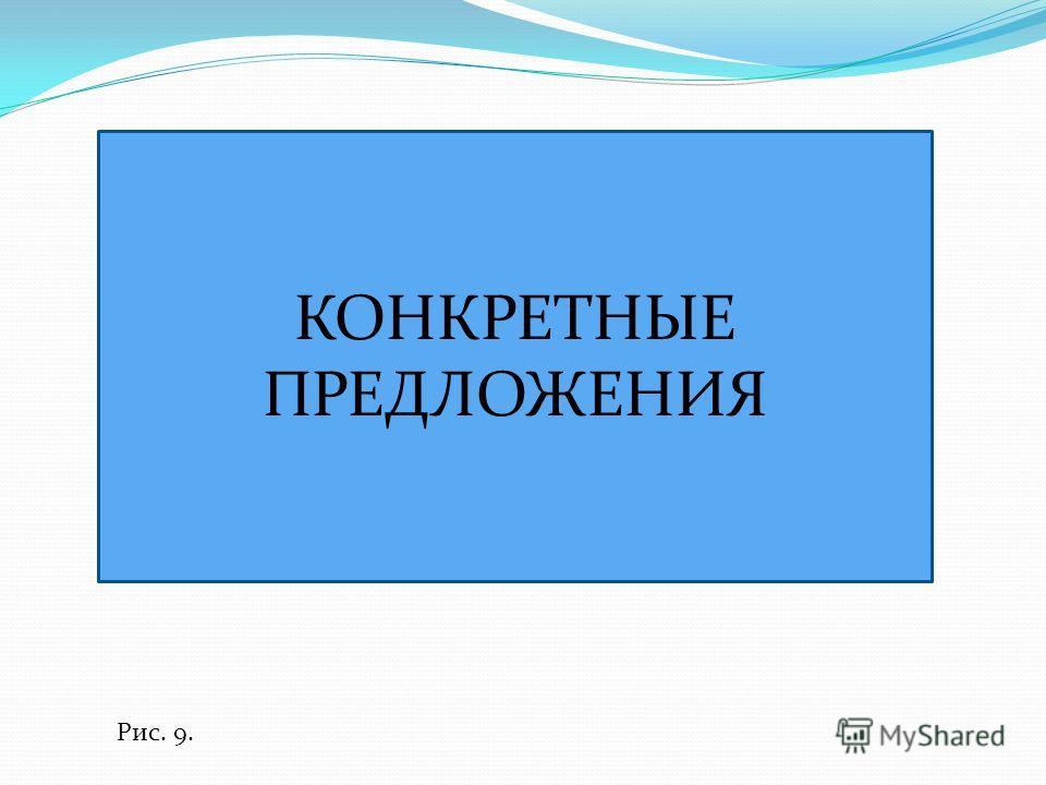КОНКРЕТНЫЕ ПРЕДЛОЖЕНИЯ Рис. 9.