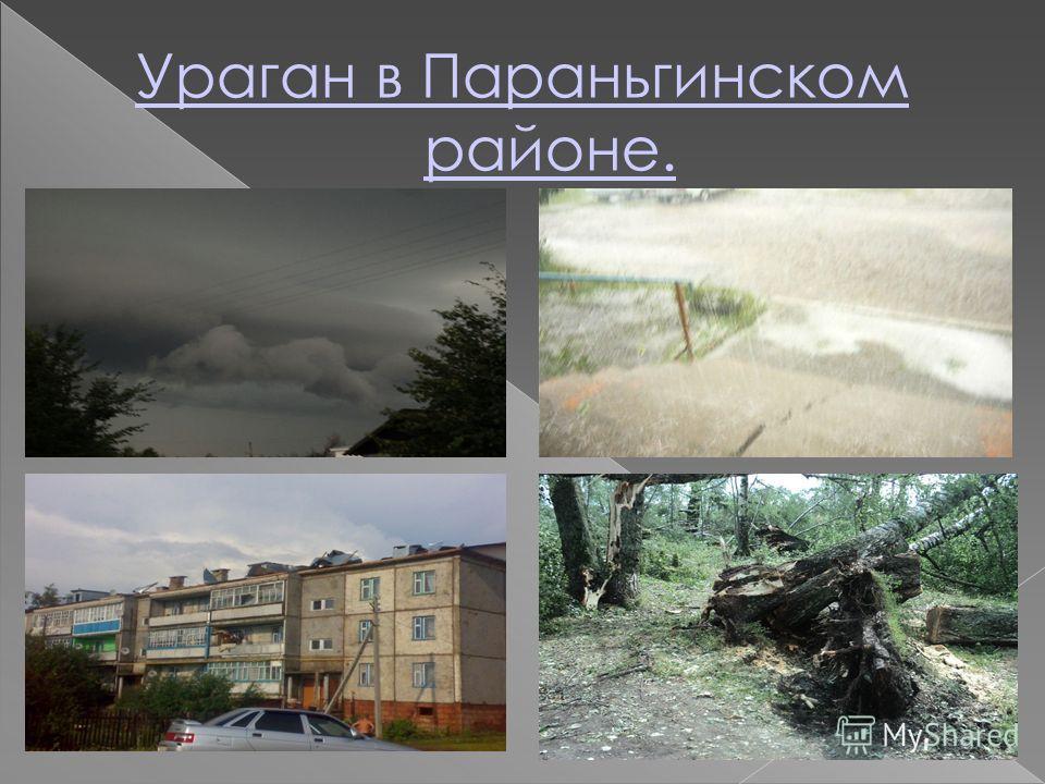 Ураган в Параньгинском районе.
