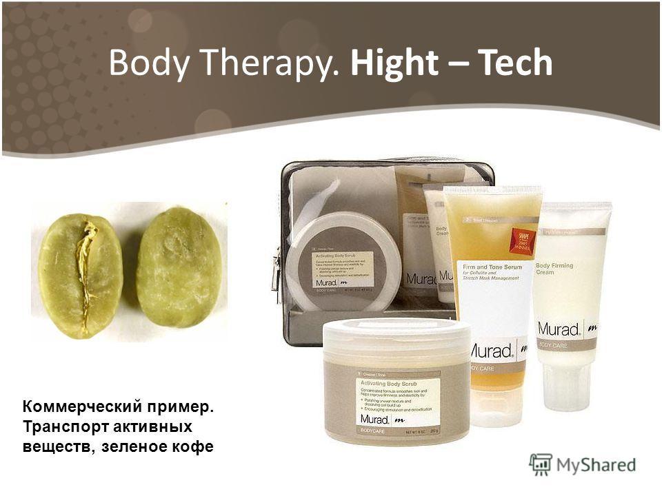 Body Therapy. Hight – Tech Коммерческий пример. Транспорт активных веществ, зеленое кофе