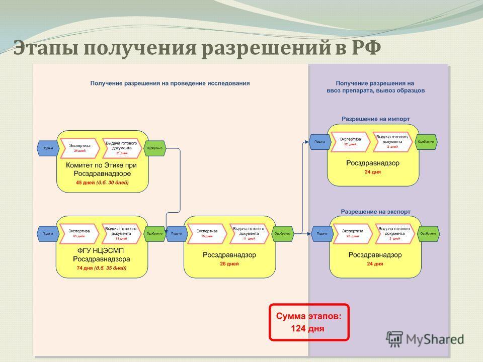 Этапы получения разрешений в РФ