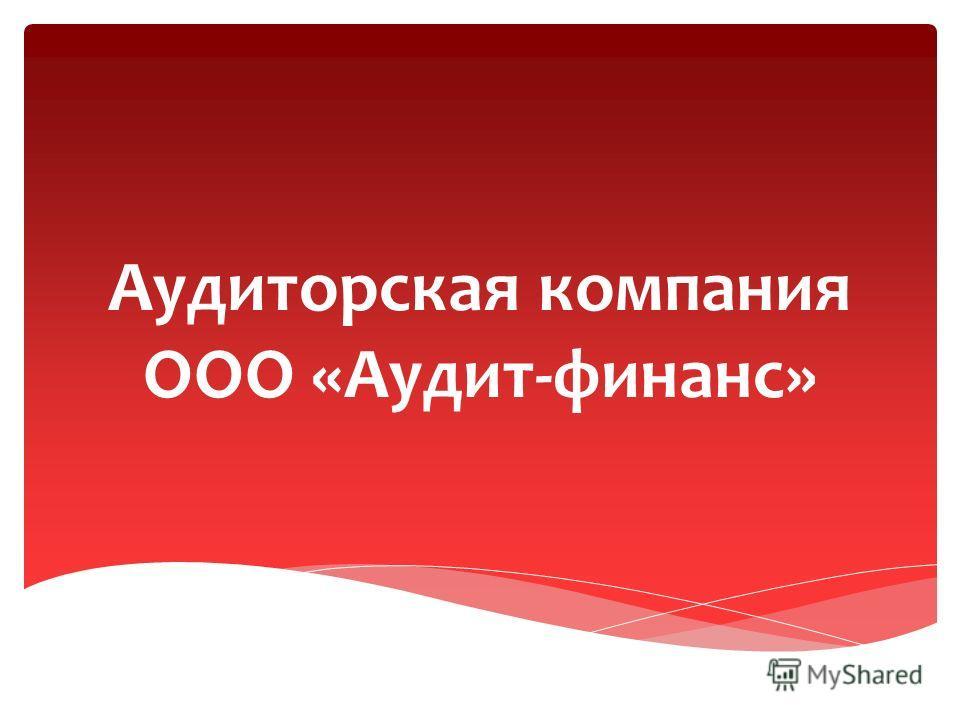 Аудиторская компания ООО «Аудит-финанс»