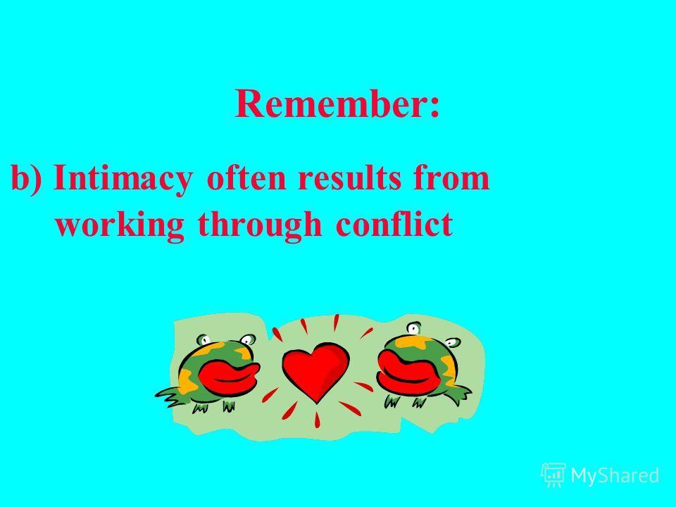 Помните: a) Конфликт – это возможность расти