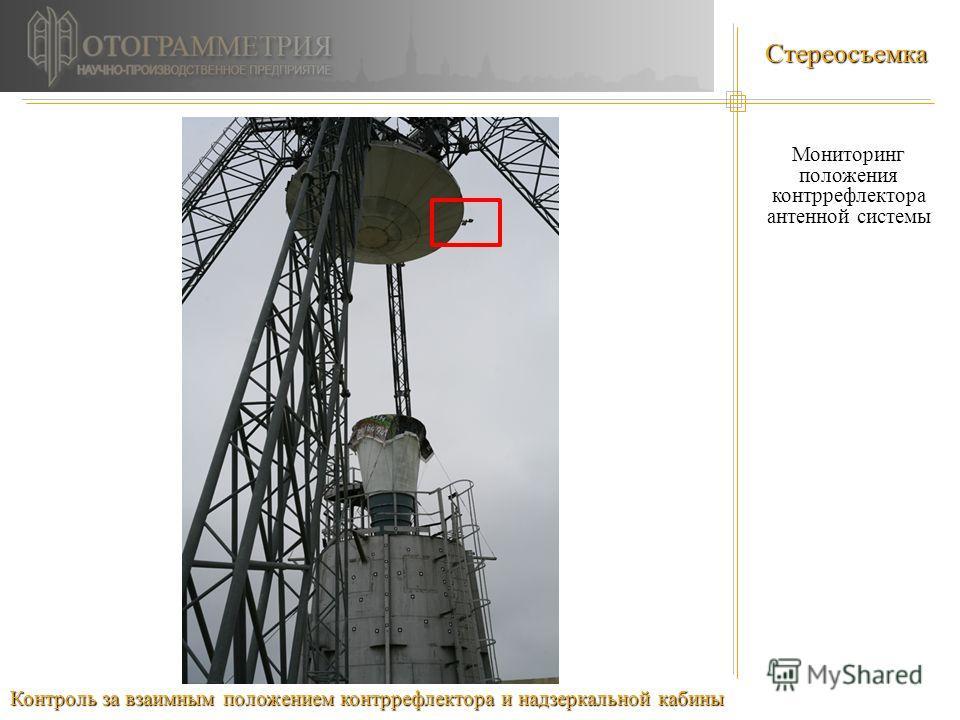 Стереосъемка Мониторинг положения контррефлектора антенной системы Контроль за взаимным положением контррефлектора и надзеркальной кабины