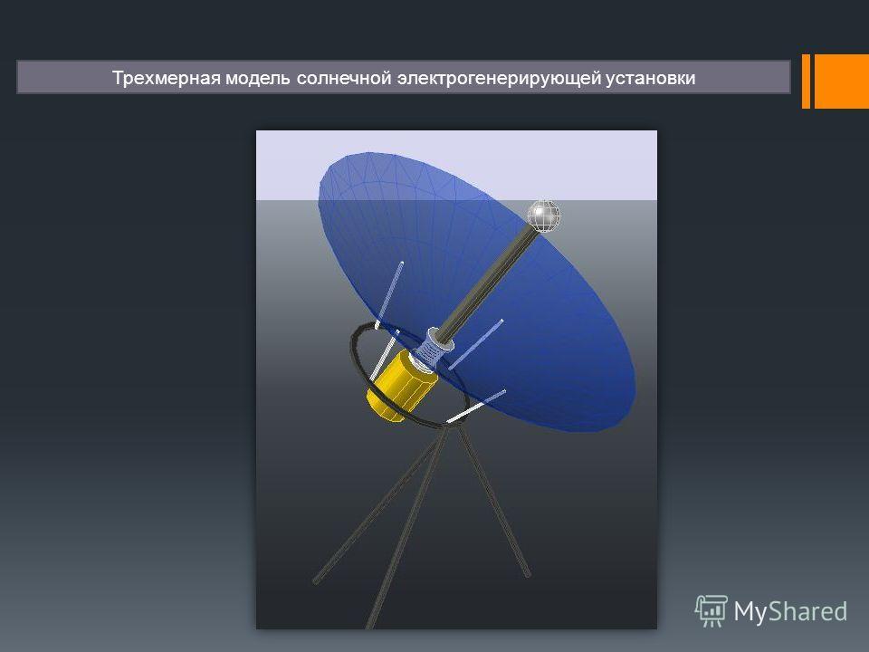 Трехмерная модель солнечной электрогенерирующей установки