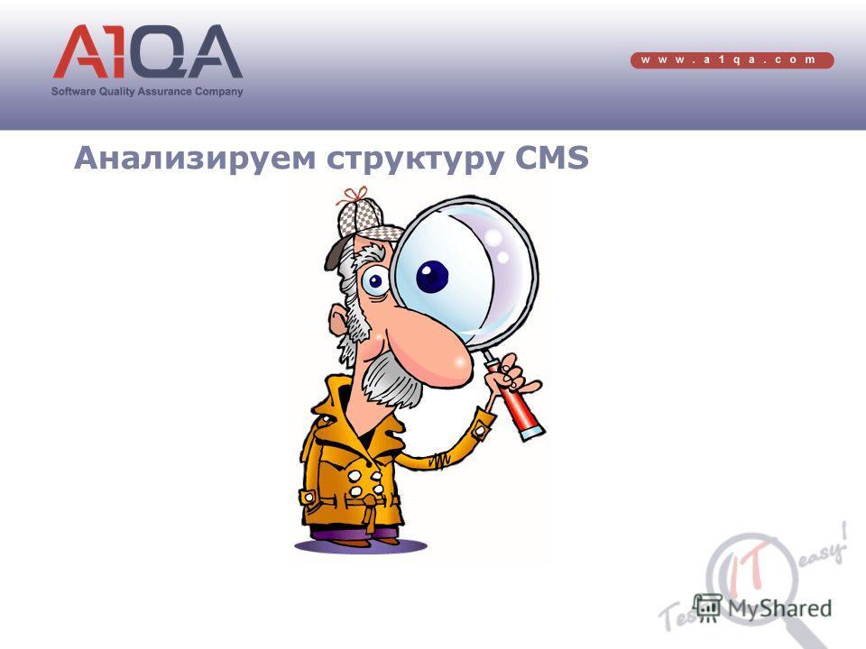 Анализируем структуру CMS