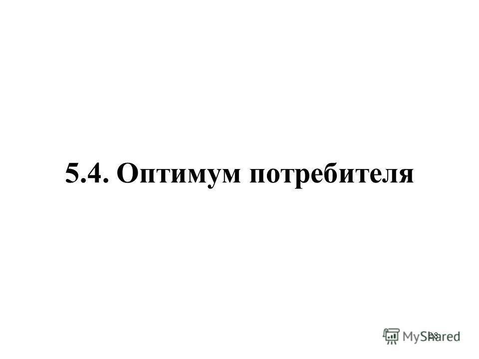 28 5.4. Оптимум потребителя