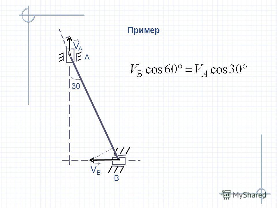 Пример B B A A 30 VAVA VAVA VBVB VBVB